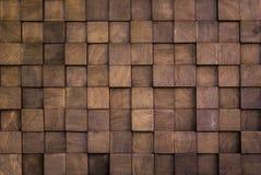 Muurtextuur met houten kubus stock foto