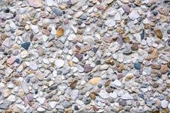 Muurtextuur van kleine stenen Stock Afbeelding