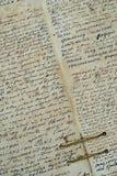 Muy útil él libro viejo. El manuscrito viejo Fotos de archivo libres de regalías