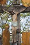 Muy vieja cruz cristiana. fotografía de archivo