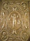 Muy vieja cubierta de Bibleâs Fotografía de archivo libre de regalías