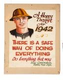 Muy vieja muestra de la seguridad en la mina Imagenes de archivo