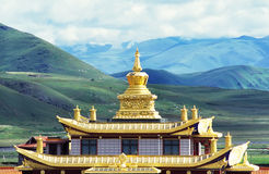 Muya golden tower(golden roof of temple) Royalty Free Stock Images