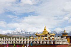 Muya golden tower with yala jokul Stock Photography