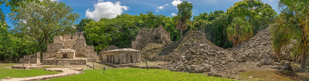 Muyil ancient Maya sites, Yucatan Peninsula in Mexico. Muyil also known as Chunyaxche was one of the earliest and longest inhabited ancient Maya sites on the Royalty Free Stock Photography