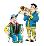 Muykant trombone accordion performance concert Royalty Free Stock Images