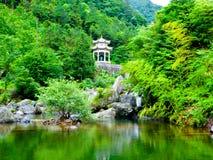 Muyu pavilion-Sword Gates-Ten gate Gorge Stock Photography