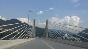 Muzafarabad Azad Kashnir Bridge Photos libres de droits