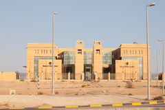 Muzairea Police Station building in Liwa Oasis Royalty Free Stock Photos