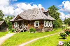 Muzealna farma Aleksander Suvorov blisko Borovichi fotografia royalty free