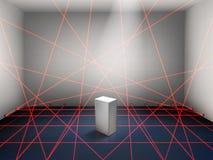 Muzealnego wiązki laserowej system bezpieczeństwa realistyczny wektor royalty ilustracja