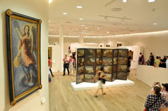 muzealni ludzie Obrazy Stock