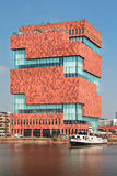 Muzealny aan De Stroom lokalizować wzdłuż rzecznego Scheldt w (MAS) Zdjęcia Royalty Free