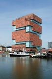 Muzealny aan De Stroom wzdłuż rzecznego Scheldt w Antwerp (MAS) Obrazy Stock