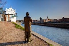 Muzealny Kampa na Vltava brzeg rzeki. Obraz Stock