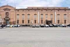 Muzealny pałac od kwadratowego Largo Porta sant'Agostino Zdjęcie Royalty Free