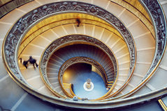 Muzealny schody, Watykan Obraz Royalty Free