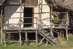Muzealny terramare montale Modena vgillaggio Italy prehistoryczny europ obraz stock