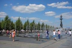 MUZEON-Park von Künsten in Moskau Stockfotos