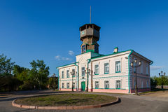 Muzeum historia na wzgórzu w mieście Tomsk obrazy stock