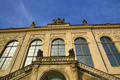 Muzeum, kościół nasz dama Frauenkirche, Stary budynek w centrum Drezdeńskim miasto, Niemcy Fotografia Stock