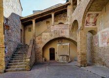 Muzeum kościelna sztuka w San Gimignano, Włochy obraz stock
