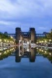 Muzeum kwadrat przy nocą, Amsterdam, holandie Zdjęcie Stock