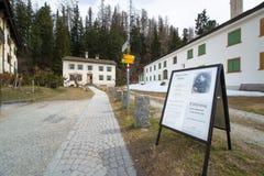 Muzeum lato siedziba Niemiecki filozof Friedrich Nietz Obraz Royalty Free