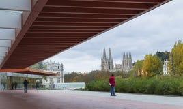 Muzeum Ludzka ewolucja w Burgos, Hiszpania, obraz stock