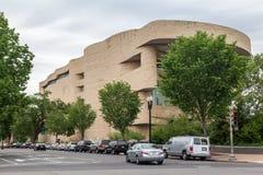 Muzeum Narodowe Amerykańsko-indiański washington dc fotografia royalty free