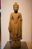 Muzeum Narodowe Bangkok, stary kamienny Buddha Zdjęcia Royalty Free