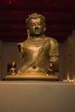 Muzeum Narodowe Bangkok, stary kamienny Buddha Zdjęcie Royalty Free