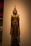 Muzeum Narodowe Bangkok, stary kamienny Buddha Obrazy Royalty Free