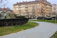 Muzeum Narodowe Militarna historia Sofia, Bułgaria Zdjęcia Stock