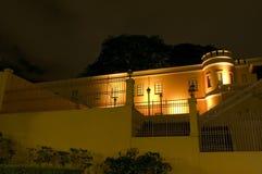 Muzeum Narodowe przy nocą Zdjęcia Royalty Free
