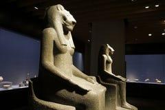 Muzeum Narodowe Tokio Statuy Przewodz?ca bogini Sekhmet obraz royalty free