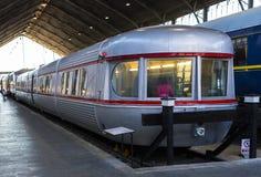 Muzeum pociągu Madryt ekspozycja kolejowego wyposażenia usługa wyposażenie i historia rozwój fotografia royalty free