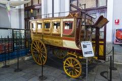 Muzeum pociągu Madryt ekspozycja kolejowego wyposażenia usługa wyposażenie i historia rozwój obrazy stock