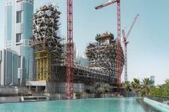 Muzeum przyszłość Budowa, Dubaj Obrazy Royalty Free