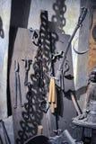 Muzeum Średniowieczni tortura instrumenty Fotografia Royalty Free