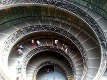 muzeum schody ślimakowaty Watykanu obrazy royalty free