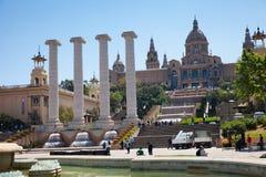 Muzeum Sztuki Barcelona Zdjęcia Royalty Free