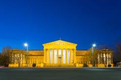 Muzeum sztuki piękna przy błękitną godziną - Budapest, Węgry Obraz Stock