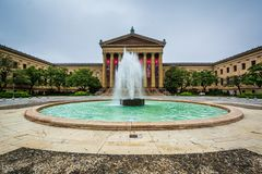 Muzeum sztuki w Filadelfia, Pennsylwania obraz stock