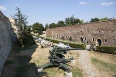 Muzeum uzbrojenia w na wolnym powietrzu w Belgrade fortecy zdjęcia royalty free