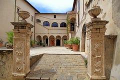 Muzeum w średniowiecznym grodzkim Pitigliano, Tuscany, Włochy Zdjęcie Royalty Free