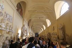 Muzeum Watykański kraj Rzym Włochy Obrazy Stock