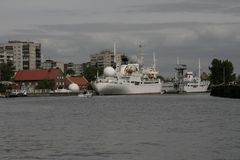 Muzeum światowy ocean w Kaliningrad bulwarze dziejowa flota Obraz Stock