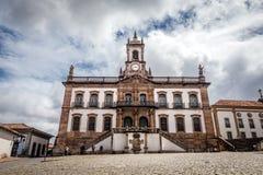 Muzeum zdrada Tiradentes kwadrat w Ouro Preto, Brazylia fotografia stock