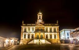 Muzeum zdrada Tiradentes kwadrat w Ouro Preto, Brazylia fotografia royalty free